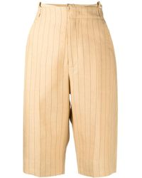 Jacquemus Pinstripe-pattern Knee-length Shorts - Multicolor