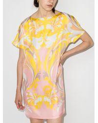 Emilio Pucci Платье С Короткими Рукавами И Принтом Tropicana - Желтый
