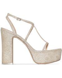 Cult Gaia Angela 120mm Glitter Platform Sandals - Metallic