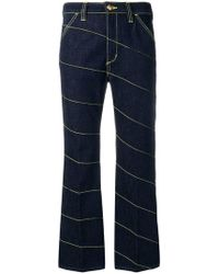 Tory Burch - Diagonal Stitch Jeans - Lyst