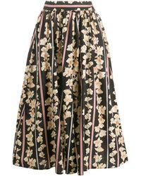 Forte Forte Floral Print Pleated Skirt - Black