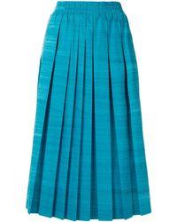 Agnona プリーツ スカート - ブルー