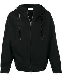 Jil Sander オーバーサイズ パーカー - ブラック