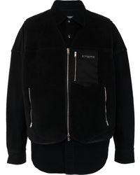 MASTERMIND WORLD Куртка Из Шерпы С Принтом - Черный