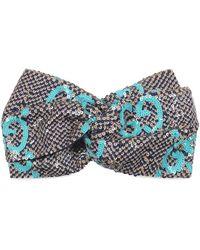 Gucci Haarreif mit Pailletten - Blau