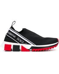 Dolce & Gabbana ブラック ニット ソックス スニーカー