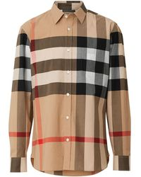 Burberry Check Stretch Cotton Shirt - Multicolour