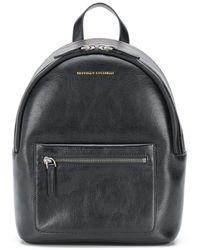 Brunello Cucinelli Logo Zipped Backpack - Black