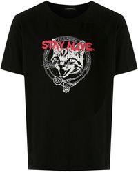 À La Garçonne プリント Tシャツ - ブラック