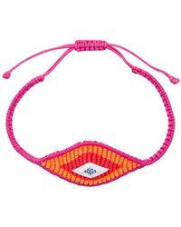 Diane Kordas - Woven Evil Eye Bracelet - Lyst