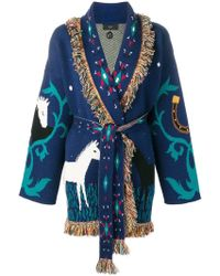 Alanui Cardigan Horses in Love - Bleu