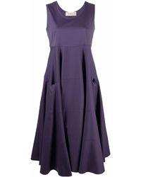 Blanca Vita Платье Без Рукавов Со Вставками - Пурпурный