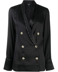 Balmain Geometric Pattern Pyjama Top - Black
