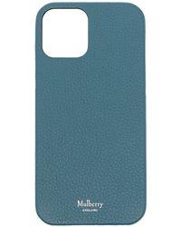 Mulberry Classic Iphone 12 レザーケース - ブルー