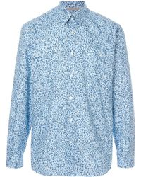 Gieves & Hawkes Floral Print Shirt - Blue