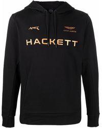 Hackett X Aston Martin Racing ロゴ パーカー - ブラック