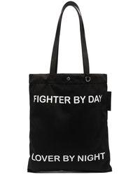 Neil Barrett Сумка-тоут Fighter By Day Lover By Night - Черный