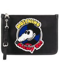 Moschino Клатч Mickey Rat - Черный