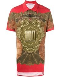 Givenchy Dollar Print Polo Shirt - Red