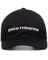 Paco Rabanne ロゴ キャップ - ブラック