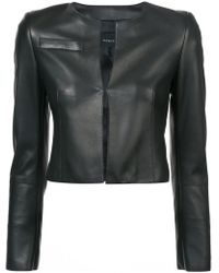 Akris | Cropped Fitted Jacket | Lyst