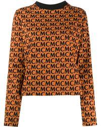 MCM Топ С Длинными Рукавами С Логотипом - Коричневый