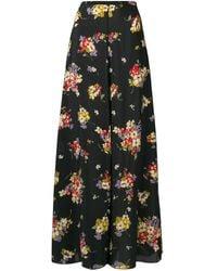 Forte Forte Floral Flared Maxi Skirt - Black