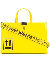 "Off-White c/o Virgil Abloh Bolso Mini ""Box"" De Charol - Amarillo"