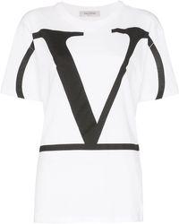 Valentino Garavani T-Shirt mit VLOGO - Weiß