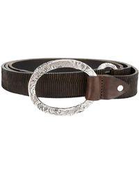 Eleventy Ribbed Belt - Brown