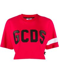 Gcds ロゴ クロップドtシャツ - レッド