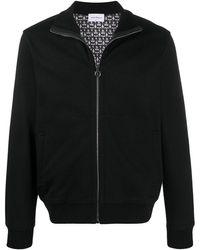 Ferragamo Куртка На Молнии С Декором Gancini - Черный