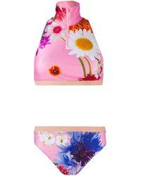 Natasha Zinko Floral Two-piece Bikini Set - Pink