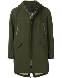 Herno Abrigo con capucha - Verde