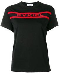 Sonia Rykiel ロゴ Tシャツ - ブラック
