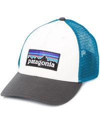 Patagonia ロゴ キャップ - ブルー
