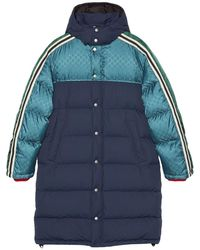 Gucci GG Jacquard Padded Coat - Blue