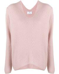 Allude カシミア Vネックセーター - ピンク