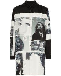 Yohji Yamamoto - Printed Long Shirt - Lyst