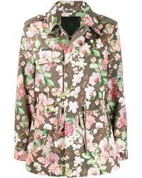 Philipp Plein Куртка Карго С Цветочным Принтом - Зеленый