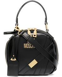 Love Moschino Top-handle Oval Bag - Black