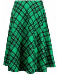 Plan C チェック スカート - グリーン