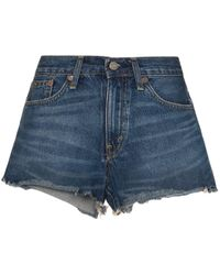 Polo Ralph Lauren - Cutoff Denim Shorts - Lyst