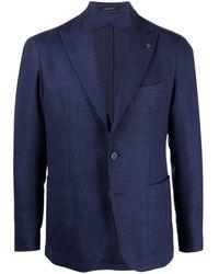 Tagliatore シングルジャケット - ブルー