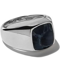 David Yurman Exotic Stone Pietersite Signet Ring - Multicolor