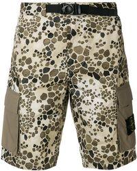 Stone Island - Alligator Camouflage Shorts - Lyst