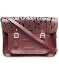 10 Corso Como Perforated Detail Shoulder Bag - Red