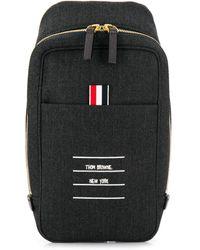 Thom Browne Paper Label Belt Bag - Gray