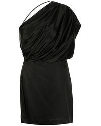 Michelle Mason ギャザー ミニドレス - ブラック