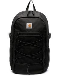 Carhartt WIP ロゴパッチ バックパック - ブラック